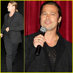 Brad Pitt: 'World War Z' MoMA Screening!