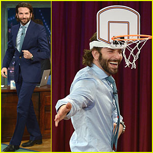 Bradley Cooper Wears Mini Basketball Hoop on 'Fallon'!