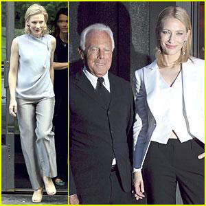 Cate Blanchett & Giorgio Armani Hold Hands in Italy