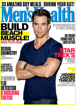 Chris Pine Covers 'Men's Health' June 2013