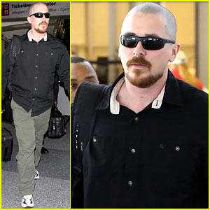 Christian Bale: Bald Head at LAX!