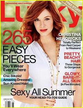 Christina Hendricks Covers 'Lucky' June/July 2013