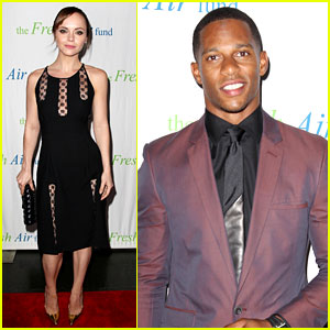 Christina Ricci: Fresh Air Fund Event with Victor Cruz!