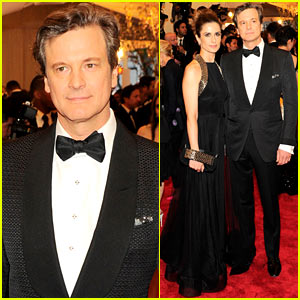 Colin Firth: Met Ball 2013 Red Carpet with Livia Giuggioli