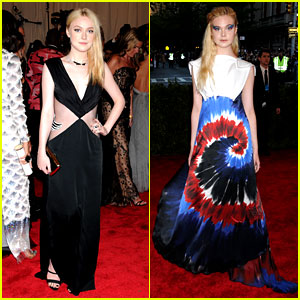 Dakota & Elle Fanning - Met Ball 2013 Red Carpet