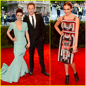 Damian Lewis & Morgan Saylor - Met Ball 2013 Red Carpet