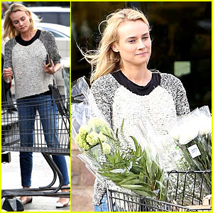 Diane Kruger: Flower Fabulous After Met Ball Trip