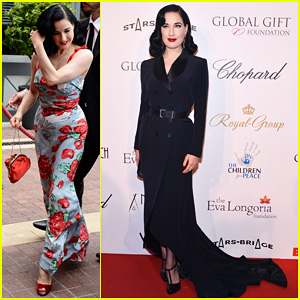 Dita Von Teese: Cannes Global Gift Gala!