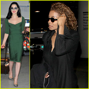 Dita Von Teese & Janet Jackson Take Flight After amfAR Gala!