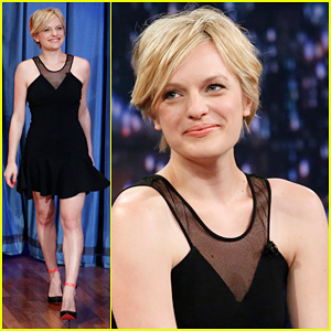 Elisabeth Moss: 'Late Night with Jimmy Fallon' Visit!