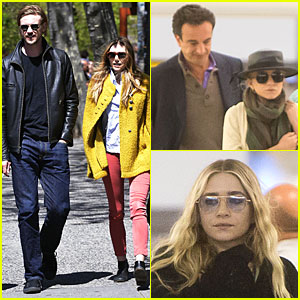 Elizabeth & Mary-Kate Olsen: Separate Outings with Boyfriends!