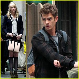 Emma Stone & Andrew Garfield: Day 82 on 'Spider-Man 2'!