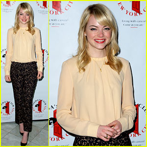 Emma Stone: Gilda's Club Event for Cancer Awareness!
