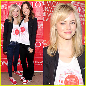Emma Stone & Olivia Wilde: EIF Revlon Run Walk For Women Hosts!