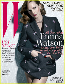 Emma Watson Covers 'W' Magazine June/July 2013
