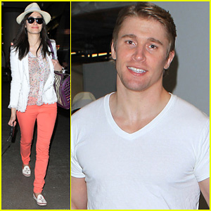 Emmy Rossum & Tyler Jacob Moore: LAX Couple!