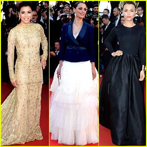Eva Longoria & Samantha Barks: 'Le Passe' Cannes Premiere!