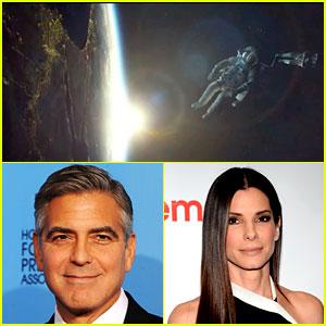 George Clooney & Sandra Bullock: 'Gravity' Teaser Trailer!
