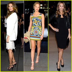 Gisele Bundchen & Erin Heatherton: Dolce&Gabbana Store Opening!