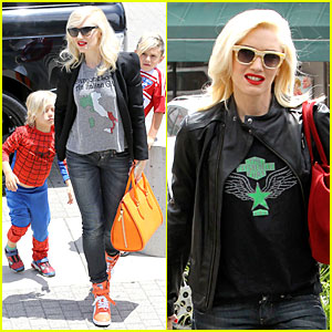 Gwen Stefani: Noah's Ark Exhibit with the Boys!