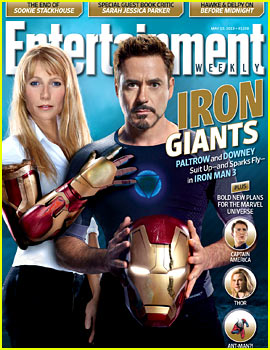 Gwyneth Paltrow & Robert Downey, Jr.: Iron Man's 'EW' Cover!