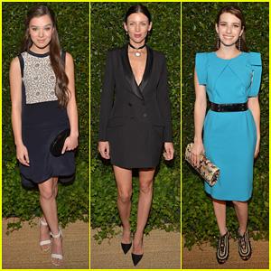 Hailee Steinfeld & Liberty Ross: 'Vogue' MAC Cosmetics Dinner!