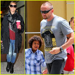 Heidi Klum Departs Cannes, Martin Kirsten Hangs with Kids