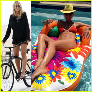 Heidi Klum: Poolside Bikini Babe on Mother's Day