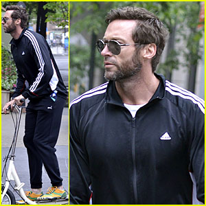 Hugh Jackman: Big Apple Scooter Rider!