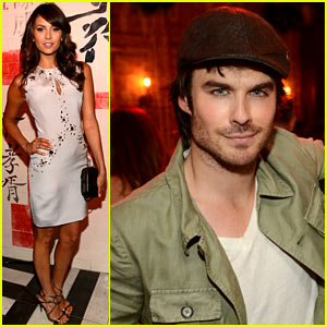 Ian Somerhalder & Nina Dobrev: CW Upfronts Party!