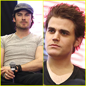 Ian Somerhalder & Paul Wesley: 'Vampire Diaries' Paris Q&A!