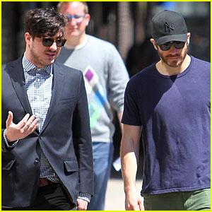 Jake Gyllenhaal & Marcus Mumford: East Village Bonding!