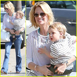 January Jones: Pacific Palisades Outing with Xander!