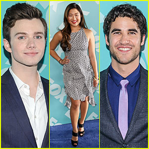 Jenna Ushkowitz & Chris Colfer: Fox Upfront Presentation with 'Glee' Cast!