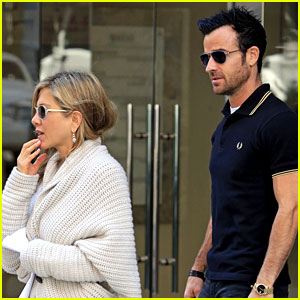 Jennifer Aniston & Justin Theroux: Upper East Side Shopping!
