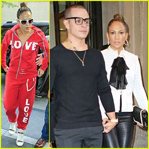 Jennifer Lopez & Casper Smart: 'Pippin' Broadway Play Date!