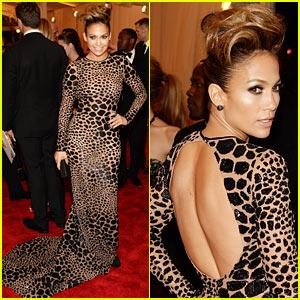 Jennifer Lopez: Met Ball 2013 Red Carpet with Casper Smart