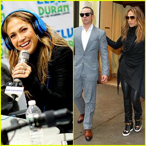 Jennifer Lopez Visits Z100 Studios After Releasing New Song