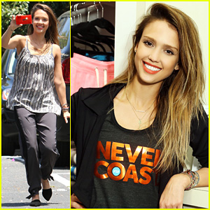 Jessica Alba: Cycling Fundraiser for Baby2Baby!