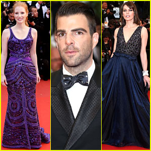 Jessica Chastain & Zachary Quinto: 'All is Lost' Cannes Premiere