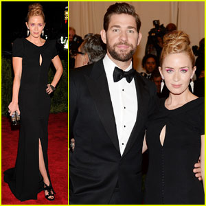 John Krasinski & Emily Blunt - Met Ball 2013 Red Carpet