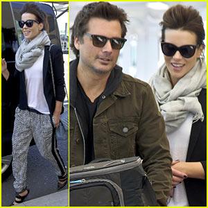 Kate Beckinsale: London Arrival After Met Ball!