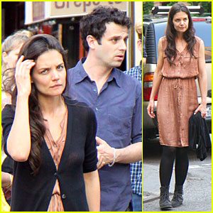 Katie Holmes & Luke Kirby: Dinner After 'Mania Days' Filming!