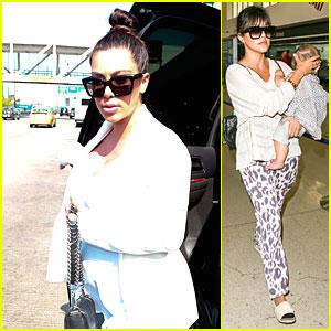 Kim Kardashian: Jetlagged Flight with Kourtney & Khloe!