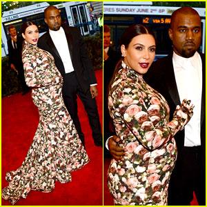 Kim Kardashian & Kanye West - Met Ball 2013 Red Carpet