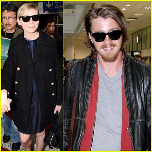 Kirsten Dunst & Garrett Hedlund Touch Down for Cannes