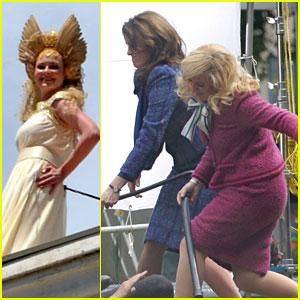 Kirsten Dunst, Tina Fey, & Amy Poehler: 'Anchorman 2' Ladies!