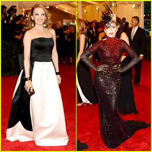 Kylie Minogue & Paloma Faith - Met Ball 2013 Red Carpet