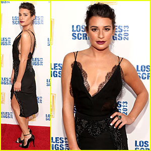 Lea Michele: Fox L.A. Screenings Lot Party!