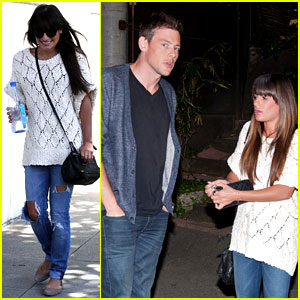 Lea Michele Visits Dentist After Date Night with Cory Monteith